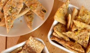 Les crackers apéritifs à la méditerranéenne