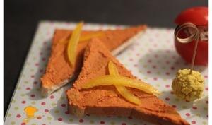 Toast au délice de poivrons et fromage frais