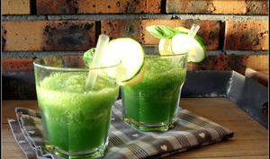 Gin cucumber slush