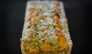 Tarte streusel abricot pistache