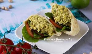 Sandwich californien vegan avocat pois chiches