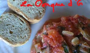 Sardines à la sauce tomate fraîche et basilic