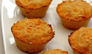 Gâteau de polenta aux carottes et gruyère