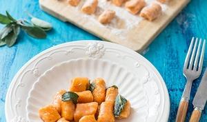 Gnocchis de patate douce au beurre de sauge
