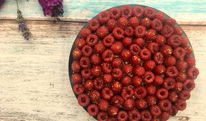 Tarte framboises et pistache