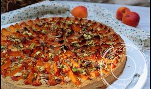 Tarte amandine pistache et abricots