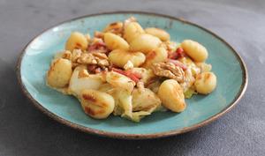 Gnocchi et fondue de poireau