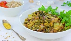Des feuilles de blettes au curry