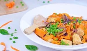 Tagliatelles de carottes à la cacahuète