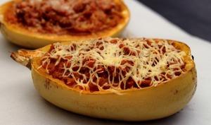 Courge spaghetti façon bolognaise