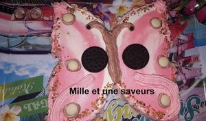Gâteau papillon au chocolat et crème chantilly