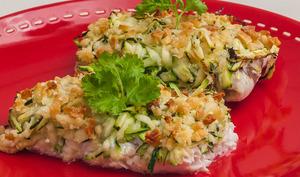 Gratin de merlu aux courgettes et au pecorino