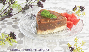 Gâteau de purée d'aubergine et tomate