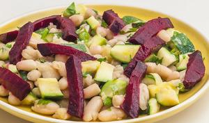 Salade de mogettes aux légumes du jardin