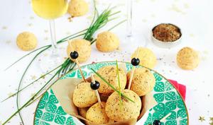Gougères à la mimolette, Cumin et graines de pavot