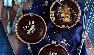 Fondant au chocolat et beurre de cacahuète