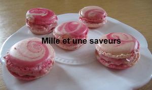 Macarons aux pralines roses