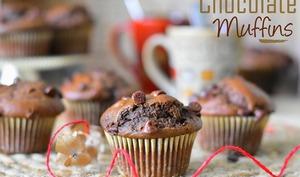Muffins au chocolat et yaourt moelleux