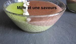 Semoule pistache et chocolat