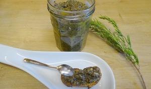 Tapenade d'olives noires au citron et aux herbes de Provence