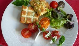 Tablettes de légumes parmesanes