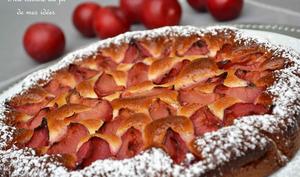 Gâteau quatre-quart aux prunes rouges