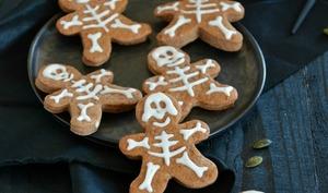 Biscuits squelettes au chocolat quatre épices