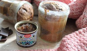 Moelleux à la crème de marrons et au chocolat en bocal