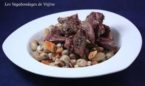 Salade haricots coco et foies de volaille