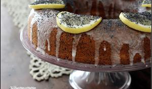 Cake couronne au citron et au pavot
