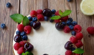 Tarte cheesecake à la framboise