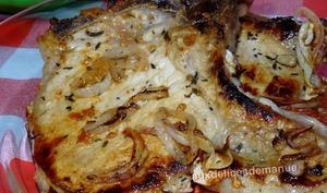 Côtes de porc marinées à la plancha