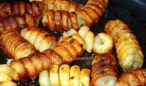 Spirales de pommes de terre rissolées