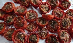 Tomates séchées au four et congelées
