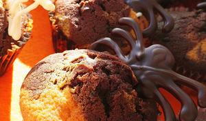 Madeleines marbrées chocolat vanille Halloween