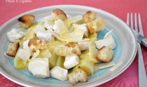 Poireaux façon salade Caesar