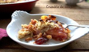 Coings en crumble