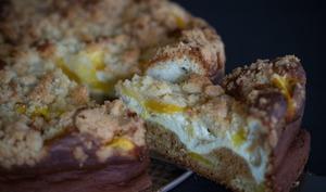 Käsestreuselkuchen à la mangue
