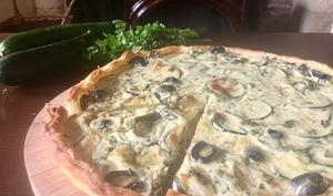 Quiche courgettes et olives