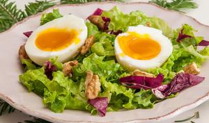 Salade d'oeufs automnale toute simple