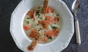 Velouté de chou fleur au saumon fumé
