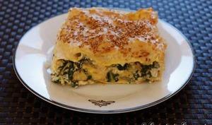 Lasagnes aux bettes, béchamel de sésame et ricotta