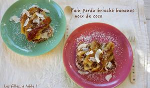 Pain perdu au lait de coco et à la banane
