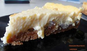 Cheesecake rhum raisins