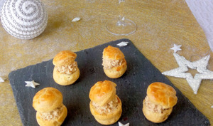 Petits choux apéritifs à la mousse de foie gras