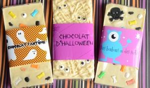 Tablettes de chocolat customisé pour Halloween