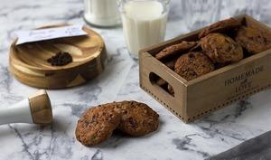 Cookies cerises, timut et pépites de chocolat