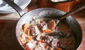 Sauté de dinde aux carottes crémeux