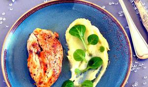 Blanc de poulet fermier et sa purée de panais