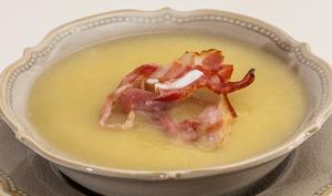 Soupe de céleri rave au poireau